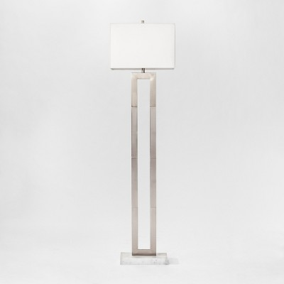 Weston Window Pane Floor Lamp Nickel - Project 62™