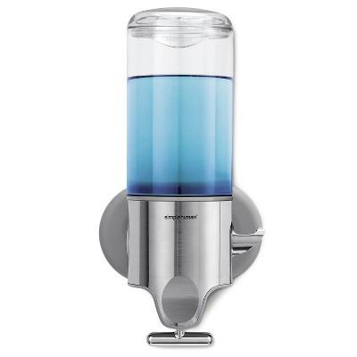 simplehuman 15 fl oz Single Wall Mount Soap Pump Silver