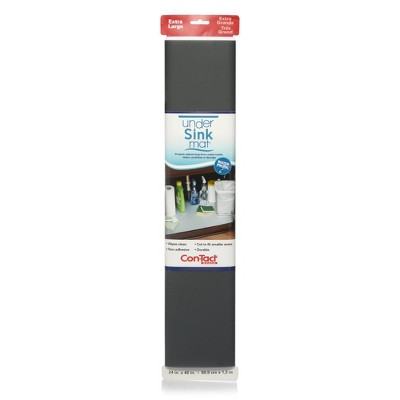 "Con-Tact 24""x4' Under Sink Mat Gray"