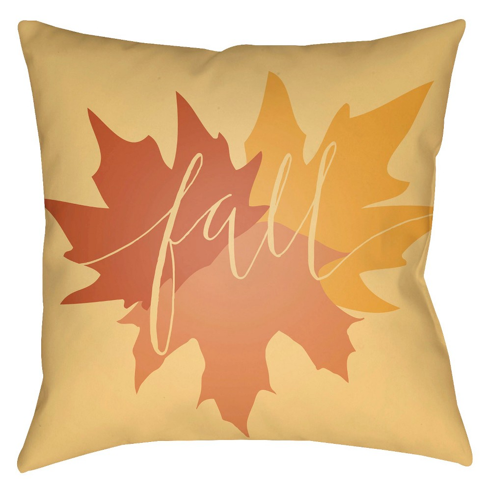Yellow Fall Throw Pillow 16