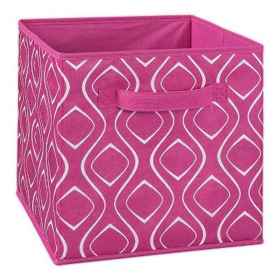 ClosetMaid 184400 Nonwoven Polypropylene Fabric Multiple Item Spacious Storage Organizer Cube with Two Handle Design, Fuchsia Diamond