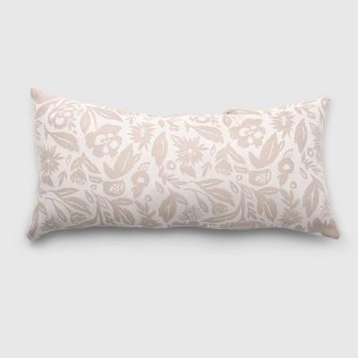 Oversize Lumbar Garden Party Outdoor Pillow Tan - Opalhouse™