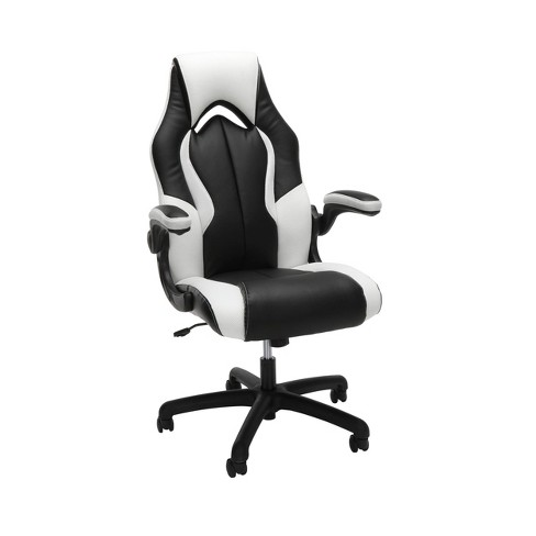 Awe Inspiring Essentials Collection High Back Racing Style Gaming Chair White Ofm Uwap Interior Chair Design Uwaporg