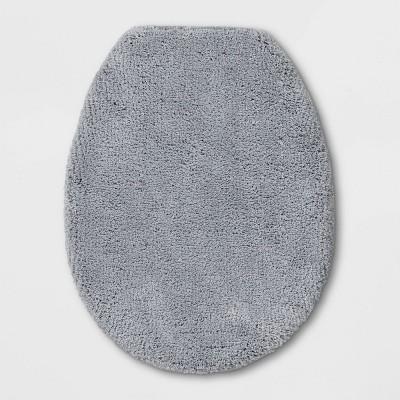 "18""x21"" Elongated Toilet Lid Cover Light Gray - Threshold Signature™"