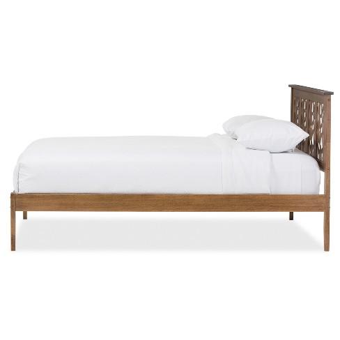 Trina Contemporary Tree Branch Inspired Wood Platform Bed - Baxton ...