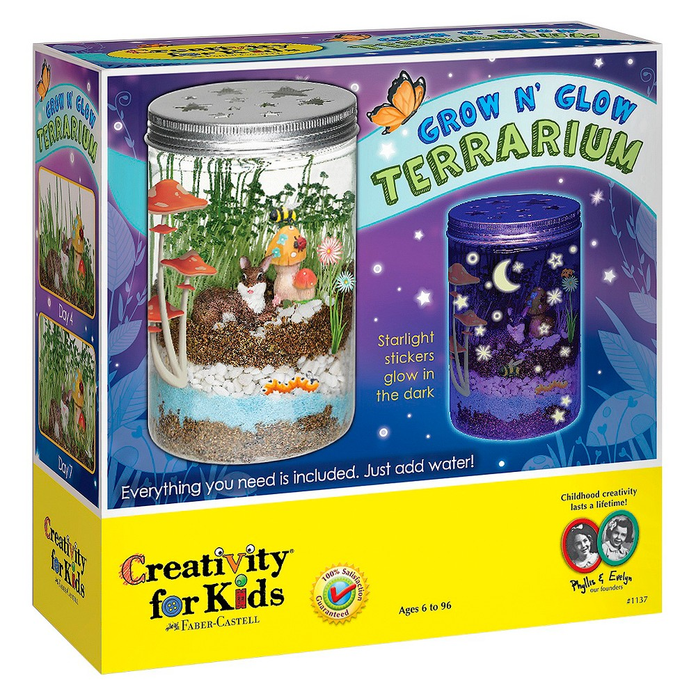 Image of Creativity for Kids Grow N' Glow Terrarium