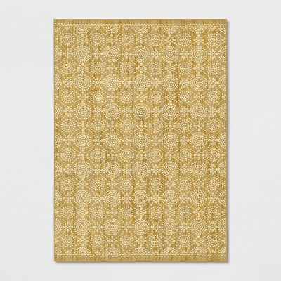 5'X7' Circle Pattern Tufted Area Rug Gold - Threshold™