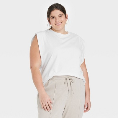 Women's Exaggerated Shoulder Tank Top - A New Day™
