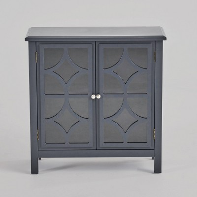Melora Fir Wood Cabinet Charocal Gray - Christopher Knight Home