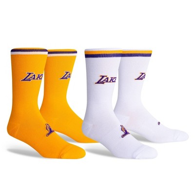 NBA Los Angeles Lakers Home Away Socks - 2pk - L