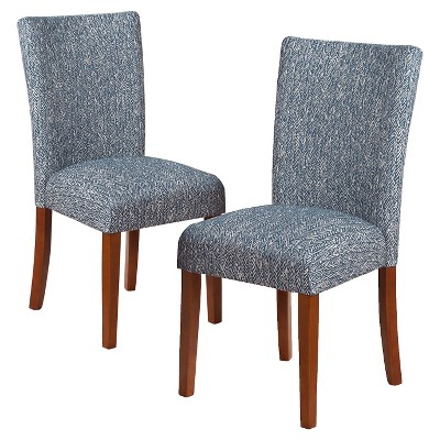 Set of 2 Parsons Pattern Dining Chair Wood - HomePop