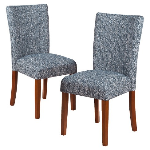 Parsons Pattern Dining Chair Wood (Set of 2) - HomePop - image 1 of 4