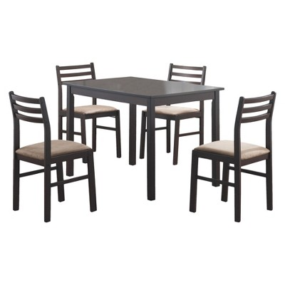 5pc Dining Set Cappuccino - EveryRoom