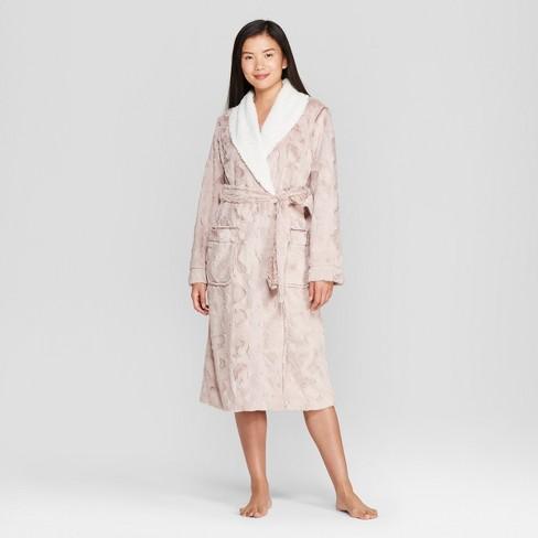5b2a071145 Women s Cozy Faux Fur Robe - Gilligan   O Malley™   Target