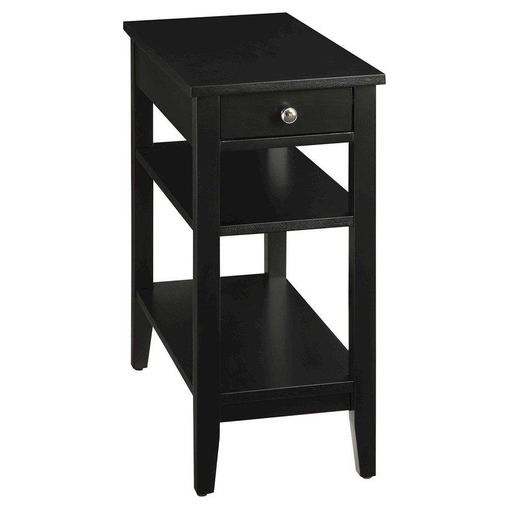 Image of American Heritage 3 Tier End Table - Convenience Concepts, Black