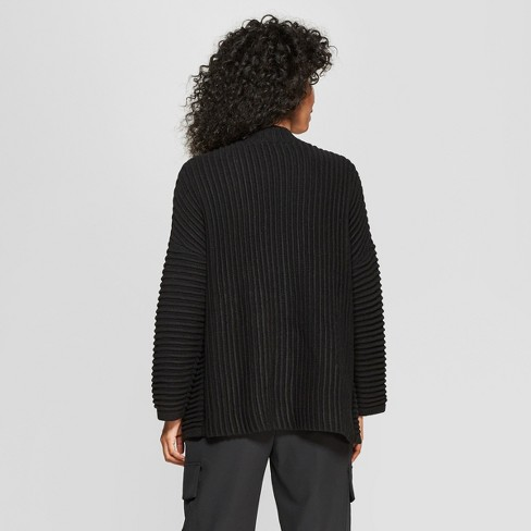 48720d7cf397 Women s Long Sleeve Stitch Mix Cardigan - Prologue™ Black XS   Target
