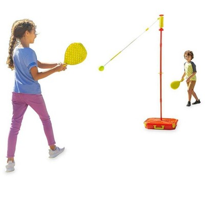 HearthSong - All-Surface Adjustable Classic Swingball Game With Sturdy Base, Kids Backyard Game