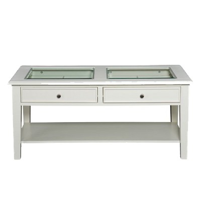 Pacific Cocktail Table White - Aiden Lane