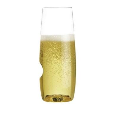GoVino 8oz 2pk Plastic Champagne Flute Glasses