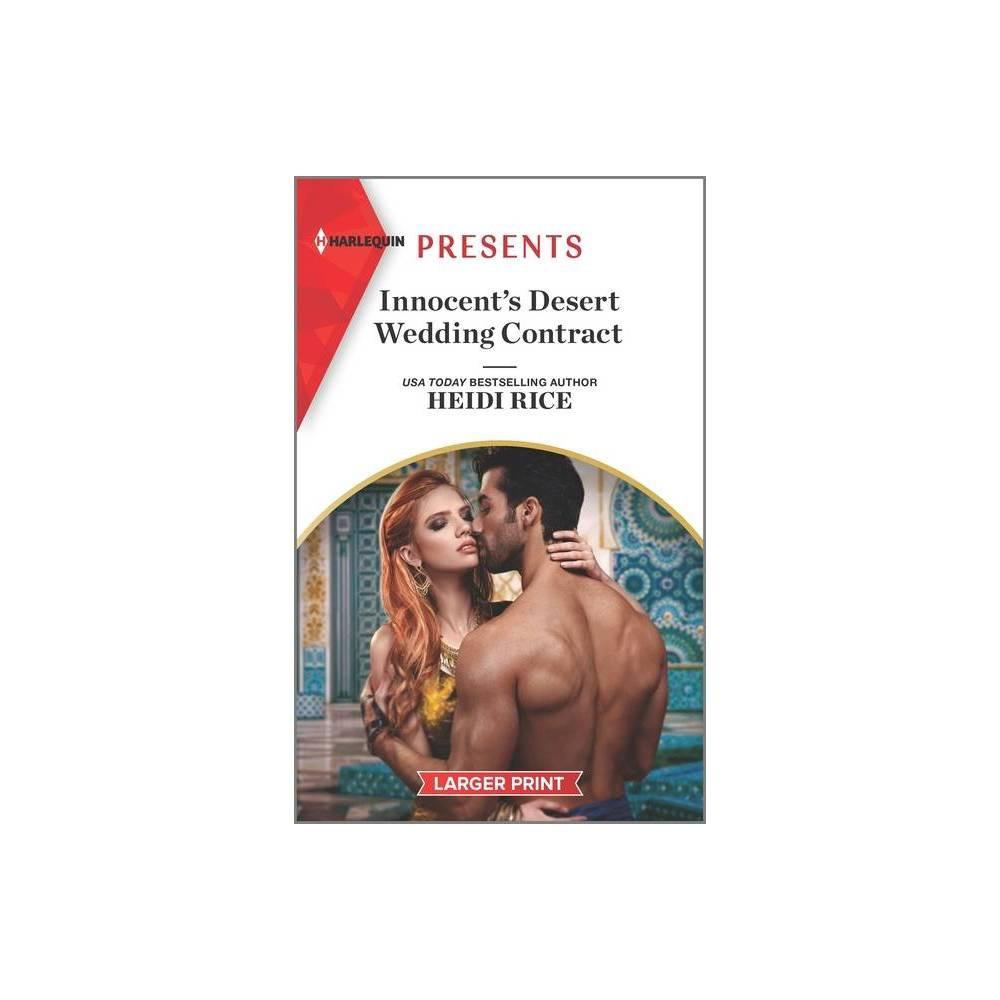 Innocent S Desert Wedding Contract Large Print By Heidi Rice Paperback