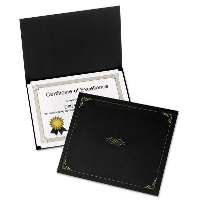 Oxford Certificate Holder 11 1/4 x 8 3/4 Black 5/Pack 29900055BGD