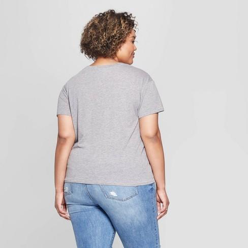 afaf073d4 Women's Disney Distressed The Lion King Plus Size Short Sleeve Crewneck T- Shirt (Juniors') - Gray : Target