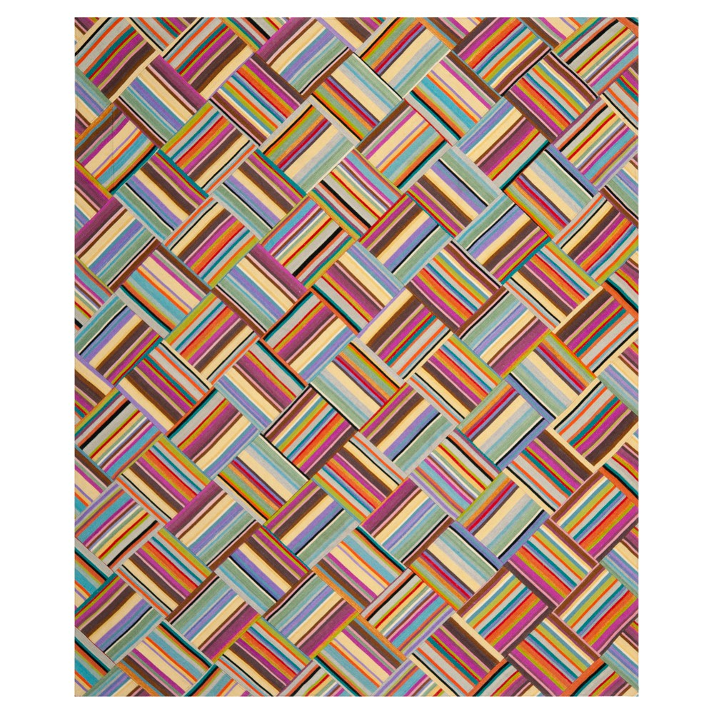 Pink/Multi Abstract Woven Area Rug - (8'x10') - Safavieh