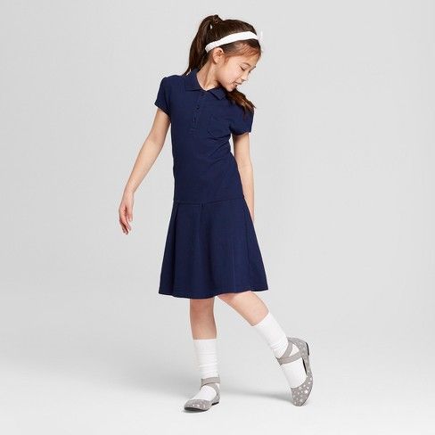 ed3157b83dab Girls' Uniform Tennis Shirt Dress - Cat & Jack™ Navy XL : Target