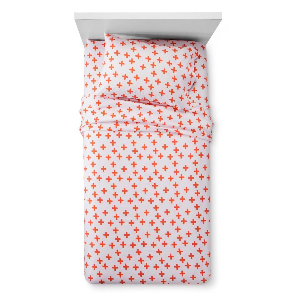 Plus Sign Sheet Set (Full) Orange - Pillowfort