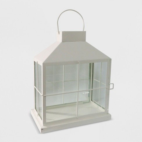 "14"" Rectangle Outdoor Lantern White - Threshold™ - image 1 of 4"