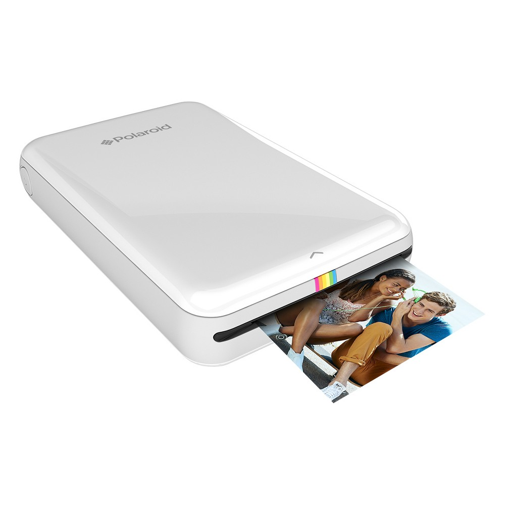 Polaroid Zip Instant Mobile Printer - White (POLMP01X) Print your pictures wherever you go with this Zip Instant Mobile Printer from Polaroid. Pocket friendly and compatible with most devices; now print wallet sized pictures with the use of Bluetooth technology. Whether with friends and family or at an important meeting, this pocket-sized printer is sure to always come in handy. Color: White.