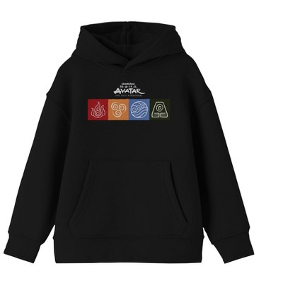 Four Elements Avatar Youth Black Hoodie