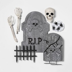 18pc Haunted Cemetery Decorative Halloween Prop - Hyde & EEK! Boutique™