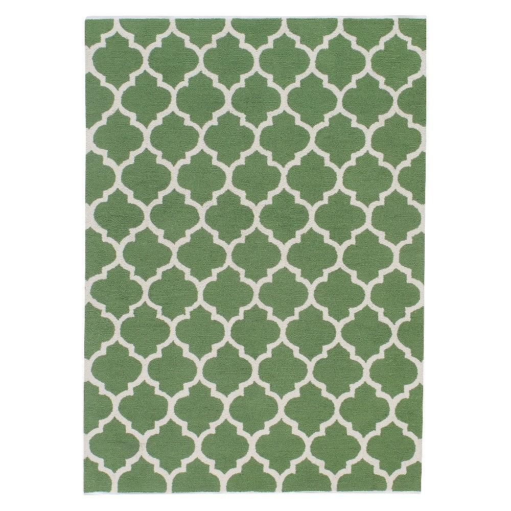 5'X7' Geometric Area Rug Green - Momeni