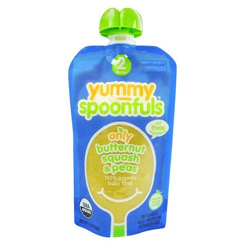 Yummy Spoonfuls Organic Stage 2 Butternut Squash & Peas Baby Food 3.5 oz - image 1 of 1