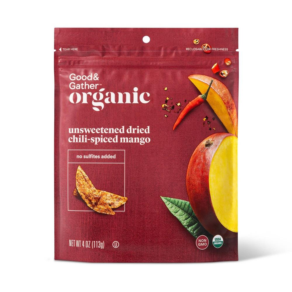 Organic Dried Unsweetened Chili Lime Spiced Mango Snacks 4oz Good 38 Gather 8482