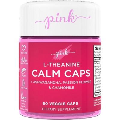 Pink L-Theanine Calm Caps Veggie Capsules - 60ct
