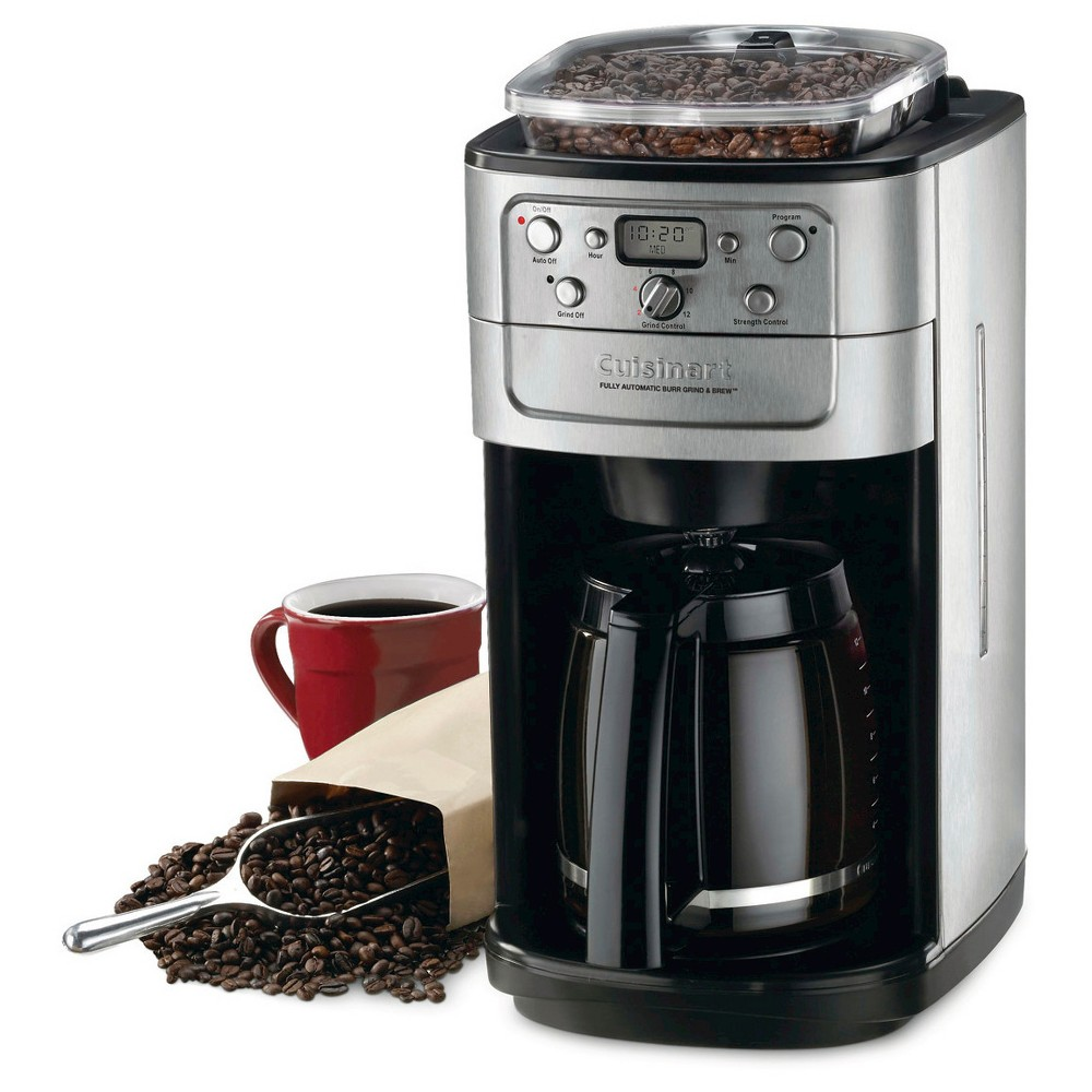 Cuisinart Fully Automatic Grind & Brew 12 Cup Coffee Maker – Brushed Chrome Dgb-700BC 21398002