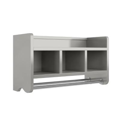 """Bath Storage Shelf with Towel Rod 25"""" - Alaterre Furniture"""