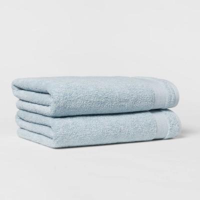 2pk Bath Towel Set Aqua - Made By Design™