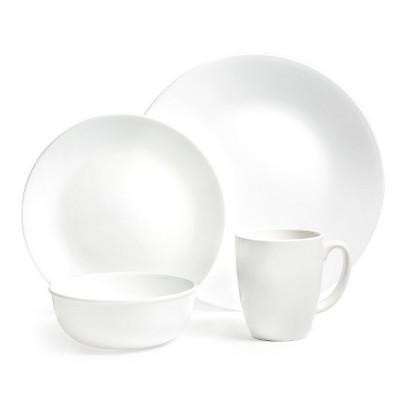 Corelle White Frost Vitrelle 16pc Dinnerware Set - White