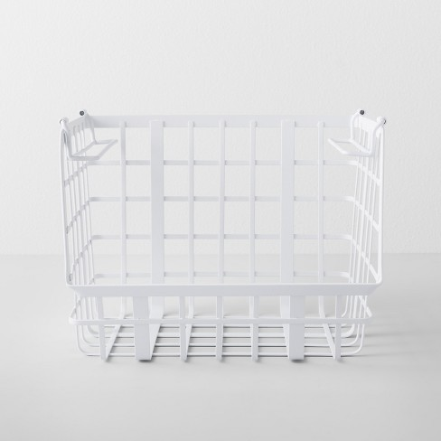Open Front Stackable Basket White - Made By Design™ - image 1 of 4