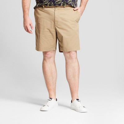 "Men's Big & Tall 9"" Linden Flat Front Chino Shorts - Goodfellow & Co™"