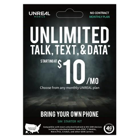 UNREAL Mobile SIM Starter Kit
