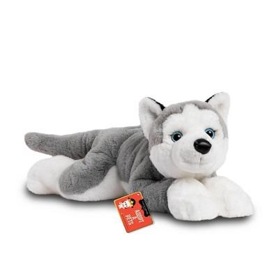"FAO Schwarz Adopt-A-Pets Husky 22"" Stuffed Animal with Adoption Certificate"