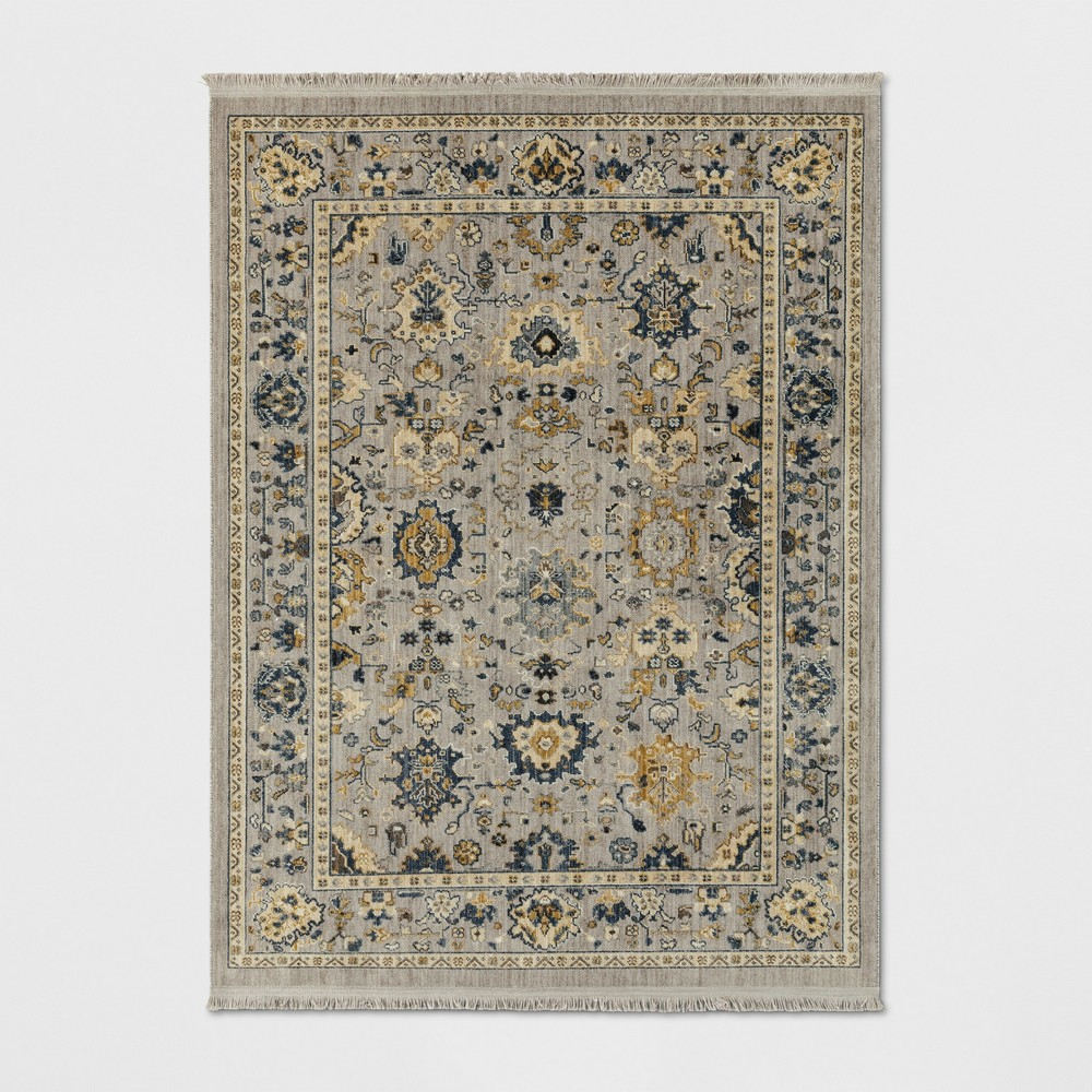 10'X13' Damask Woven Area Rugs Gray - Threshold