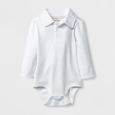 Baby Boys' Polo Bodysuit - Cat & Jack™ White 3-6M