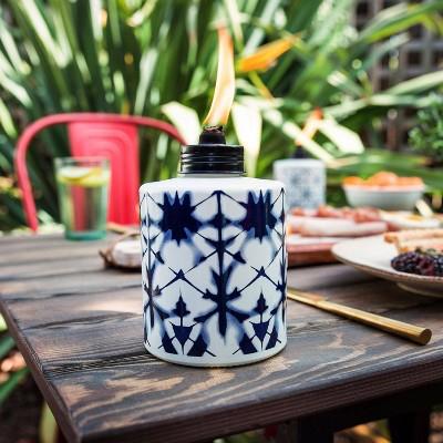 Tie Dye Tabletop Glass Outdoor Torch - TIKI