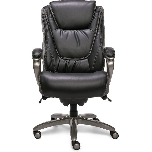 Big & Tall Smart Layers Premium Ultra Executive Chair Bliss Black Bonded Leather - Serta - image 1 of 21