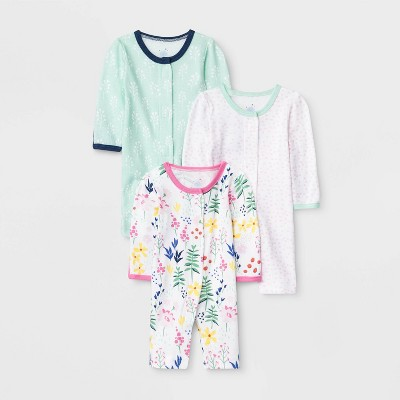 Baby Girls' 3pk Pajama Set - Cloud Island™ Preemie